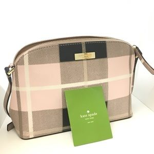 Kate Spade Pink Plaid cross body bag